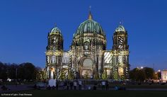 Artist: Robert Beranek. The #FestivalOfLights has invited ten #designers, #creatives and #artists to design the facade of the #BerlinCathedral under the motto #ColoursOfJoy.   #BerlinerDom #Berlin #Colours #Light