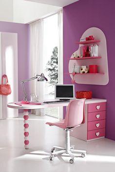 girly homework corner