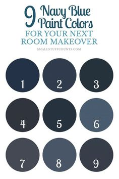 Have a painting project coming up? Here are 9 beautiful navy blue paint colors for your home decor.