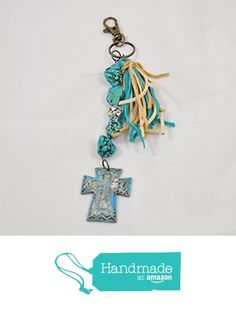 Chunky Turquoise Southwestern Cross Keychain Purse or Backpack Clip from Jooniebeads Treasures https://www.amazon.com/dp/B01M4PDFNT/ref=hnd_sw_r_pi_dp_NEMfyb8JCDKC2 #handmadeatamazon
