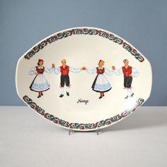 Figgjo Flint Hardanger Dancers Serving Oval Platter