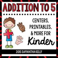 Teach Addition within 5 with these Stations, Anchor Charts, and No-Prep Printables. this unit is perfect for beginning addition in your kindergarten classroom. This set ONLY covers addition to 5. I have a separate set for addition within 10.