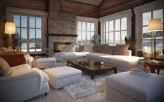 Cottage Design, House Design, Sauna Design, Lakeside Living, Timber House, Cabin Interiors, Luxurious Bedrooms, Log Homes, Interior Design Inspiration