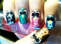 Luv them owl nails ~Vanina