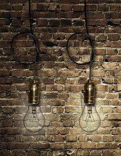 Lampa wisząca - oprawa EDISON GOLD #3 - LUNARTEU - Lampy i świece