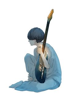 Round Robin #art #illustration #manga #anime #japan #pixiv #character #boy #guitar