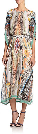 Etro Teepee Printed Silk Dress