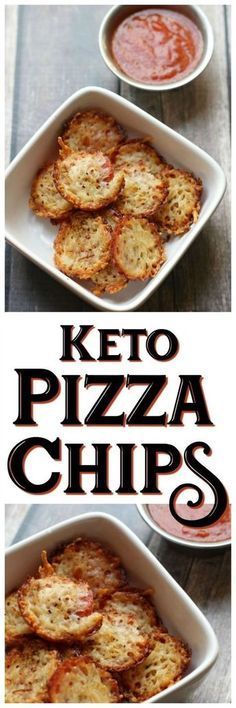 Easy Keto Snack - Pizza Chips! All of the delicious flavor without all of the carbs! Quick and easy to make and guilt free to enjoy!