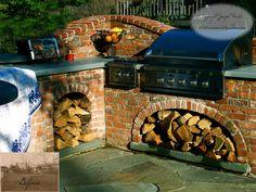Built in Brick BBQ and side burner, hmmmm.
