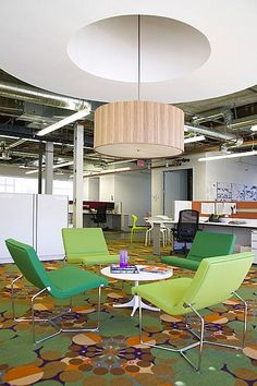 Casual meeting area at the Generator Room Lounge at Gensler's Headquarters in Los Angeles by Gensler.
