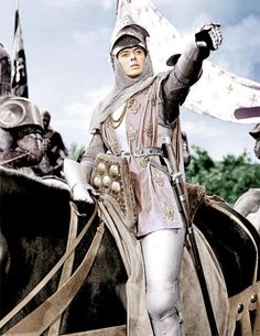 Winner of for Costume Design was Joan of Arc starring Ingrid Bergman. directed by Victor Fleming. Joan D Arc, Saint Joan Of Arc, St Joan, Ingrid Bergman, Jeanne D'arc, Victor Fleming, Armor Clothing, Female Knight, Lady Knight