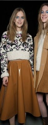 Topshop Unique sweater & vinyl skirt... I want to eat the skirt