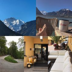 How a bikerday starts and ends!  #indianroadmaster #jungfrau #coffee #curves #vespa #ticino #switzerland