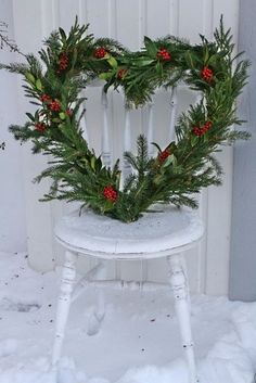 Heart wreath perfect to change your outdoor wreath to after the Holidays for Valentines Day! from All Things Shabby and Beautiful Christmas And New Year, Winter Christmas, All Things Christmas, Christmas Holidays, Christmas Wreaths, Christmas Crafts, Christmas Decorations, Xmas, Holiday Decor