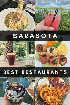 This guide contains the best Sarasota restaurants for any cuisine or budget! Find out where to eat on your vacation to Sarasota, Florida #sarasota #florida #foodie Florida Food, Sarasota Florida, Florida Travel, Central Florida, Jamaican Grill, Sarasota Restaurants, Cuban Cafe, Southern Kitchens, Delicious Restaurant