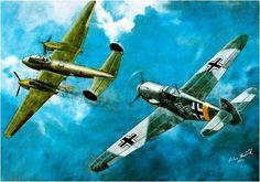 Messerschmitt Bf-109 & Petlyakov Pe-2