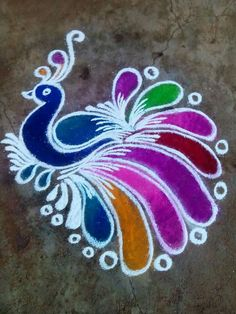 peacock rangoli designs for diwali Rangoli Designs Peacock, Rangoli Designs Latest, Small Rangoli Design, Rangoli Patterns, Rangoli Ideas, Rangoli Designs With Dots, Rangoli Designs Images, Rangoli Designs Diwali, Kolam Rangoli