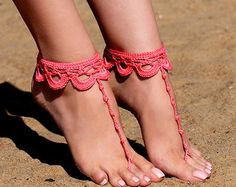 This item is unavailable Crochet Barefoot Sandals, Beach Anklets, Crochet Shoes, Bare Foot Sandals, Crochet Accessories, Wedding Shoes, Wedding Veils, Wedding Hair, Bridal Hair