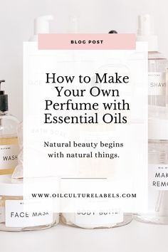 Essential oil fans…have you made your own perfume before?It's so easy!