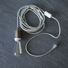 """$29, 15""""cord. Need canopy to hardwire for pendant shade. Clear 3-Wire Cord Set #WestElm"""
