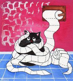 kitty in trouble