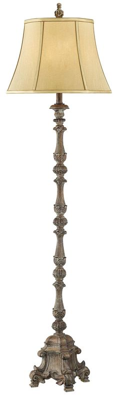 Beige French Candlestick Floor Lamp -