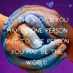 Always show compassion. Always have a voice. You may be one person, but your difference alone can change the world. #movemountains #oneisapowerfulnumber #loveyourtruth #sincerelyyours