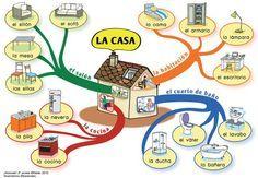 A1 - La casa. [De la ilustradora francesa Bananako para el manual ¡Anímate! de la editorial Hatier: http://bananako.fr/page_hatier_animate.html]