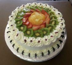 Fruit, Birthday Cake, Desserts, Food, Cake Topper Banner, Birthday Cakes, Cake Designs, Bakery Business, Tailgate Desserts