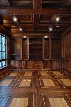 wood floor of the Year Grey Hardwood Floors, Parquet Flooring, Parquetry, Library Design, Floor Design, Restaurant Design, Tall Cabinet Storage, Woodworking, Outdoor Decor