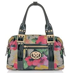Sharif Printed Leather Convertible Satchel at HSN.com.