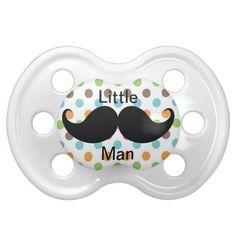 Funny Little Man Mustache Baby Pacifier