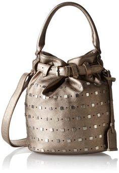 Amazon.com: Kenneth Cole Reaction Moto Stud Bucket Top Handle Bag, Black/Hematite Studs, One Size: Shoes
