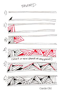 Zentangles: Steps to 'Shard'