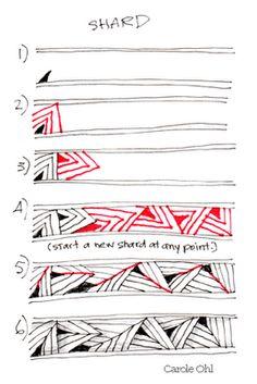 Zentangle pattern Shard