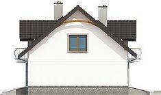 Elewacja prawa projektu Dom Dla Ciebie 3 bez garażu [B] Home Fashion, Dom, Shed, Outdoor Structures, House Styles, Outdoor Decor, Home Decor, Decoration Home, Room Decor