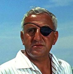 Emilio Largo  (Adolfo Celi)  Thunderball  1965    Scheme: The eyepatched Number Two of SPECTRE, Largo steals and hides two nuclear warheads from a hijacked NATO bomber. SPECTRE ransoms the nukes for 100 million British pounds worth of diamonds, or will use the nukes to blow up a city.    How He Dies: While Largo and Bond fight aboard Largo's hydrofoil, Domino — his mistress — shoots him with a harpoon gun.