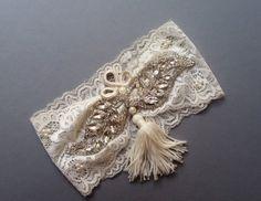 Wedding leg garter  Wedding  Garter  Ivory Lace by UniqueCeremony $25.00