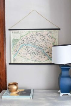 Want A Simple Way To Hang A Large Scale Map Or Poster