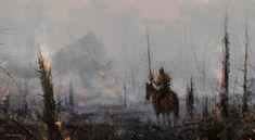 quibbll.com - Художник Якуб Розальский (Jakub Rozalski): «Последний деревянный рыцарь, хранитель леса»