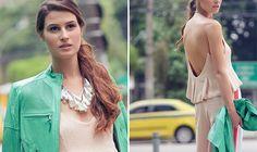 Street Style - mint, menta, nude