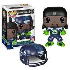 Funko is moving the chains with their NFL Wave 2 Pop! This NFL Marshawn Lynch Wave 2 Pop! Vinyl Figure features the running back for the Seattle Seattle Seahawks, Seahawks Fans, Nfl Seattle, Richard Sherman, Seahawks Helmet, Kick Off Football, Nfl Football, Nfl Superbowl, Sports
