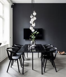 Here are the And Masculine Dining Room Design Ideas. This article about And Masculine Dining Room Design Ideas was posted under the Dining Room category by our team at July 2019 at pm. Hope you enjoy it and . Luxury Dining Room, Dining Room Lighting, Dining Room Design, Dining Rooms, Black Dining Room Table, Dining Area, Black Table, Dining Tables, Kitchen Dining