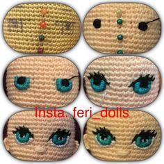 Картинки по запросу ojos tejidos en crochet