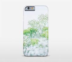 Floral iPhone 7 Case White And Green Floral Phone by Macrografiks