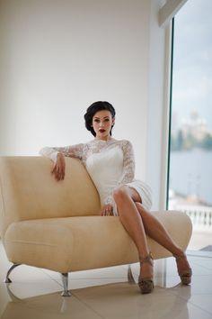 Fitted Style Short Wedding Dress Short by ApilatCreativeAtelie, $460.00