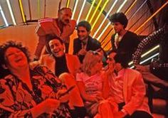 Halston, Steve Rubell, Lorna Luft, and friends at Studio 54, New York, 1978