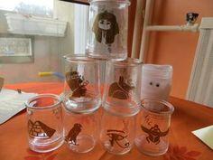 Des verres décorés pour une fête égyptienne