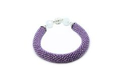 Beaded bracelet - Purple bracelet - Seed bead jewelry  Purple bracelet is crochet wiht Czech seed beads аnd decorated with white glass beads. It looks nice in the hand.  Its perfect for everyday or special occasion wear. It can be worn alone or stacked with your other favorite bracelets.  ◆MEASUREMENTS Length 7.87 in ( 20 cm ) Weight 0.03 lb ( 14 g )  Each purchase comes carefully packaged.  ◆Please note that real colors may slightly differ from their appearance on your display  Thank you…