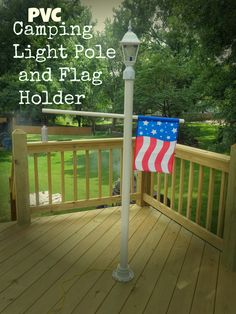 It's My Life: My Weekend Project: A PVC Camping Light Pole and Flag Holder